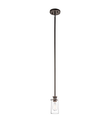 Kichler 43060OZ Braelyn 1 Light 5 inch Olde Bronze Mini Pendant Ceiling Light photo