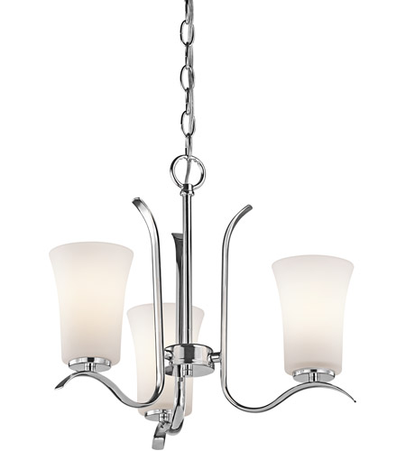 Kichler 43073CH Armida 3 Light 18 inch Chrome Chandelier Ceiling Light in Standard photo
