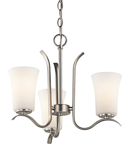 Kichler Lighting Armida 3 Light Chandelier in Brushed Nickel 43073NI