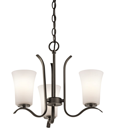 Kichler 43073OZ Armida 3 Light 18 inch Olde Bronze Chandelier Ceiling Light in Standard photo