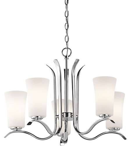 Kichler 43074CH Armida 5 Light 25 inch Chrome Chandelier Ceiling Light in Standard photo
