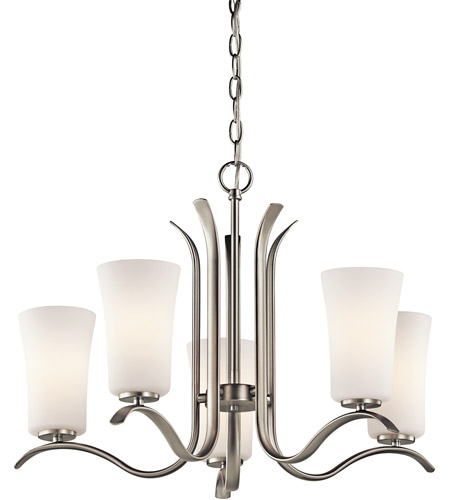 Kichler Lighting Armida 5 Light Chandelier in Brushed Nickel 43074NI