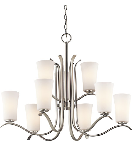 Kichler Lighting Armida 9 Light Chandelier in Brushed Nickel 43075NI