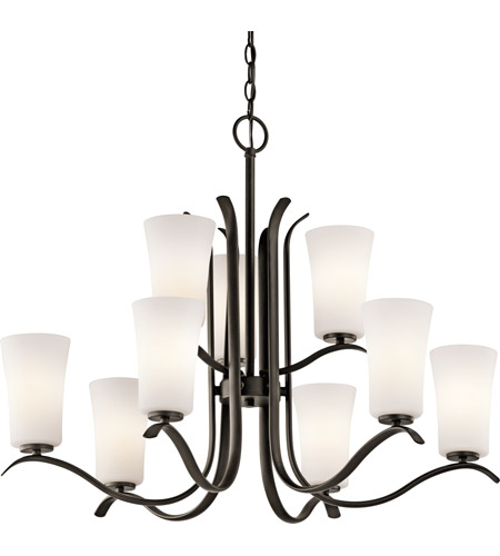 Kichler 43075OZ Armida 9 Light 33 inch Olde Bronze Chandelier Ceiling Light in Standard photo