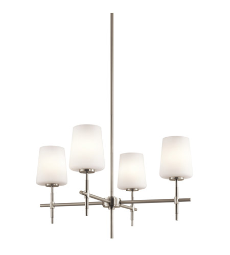 Kichler Lighting Builder Arvella 4 Light Chandelier in Brushed Nickel 43085NI