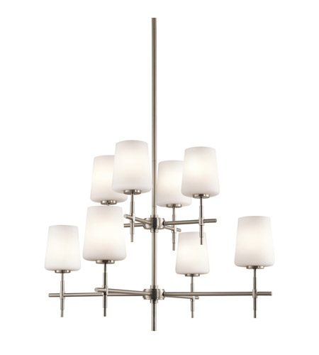 Kichler Lighting Builder Arvella 8 Light Chandelier in Brushed Nickel 43087NI photo