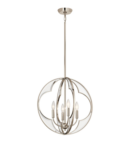 Kichler 43096pn montavello 4 light 19 inch polished nickel kichler 43096pn montavello 4 light 19 inch polished nickel chandelier ceiling light small aloadofball Choice Image