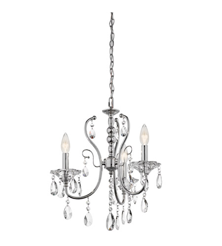 Kichler Lighting Jules 3 Light Chandelier in Chrome 43120CH