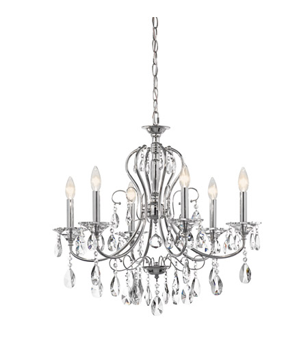 Kichler 43121CH Jules 6 Light 25 inch Chrome Chandelier Ceiling Light photo