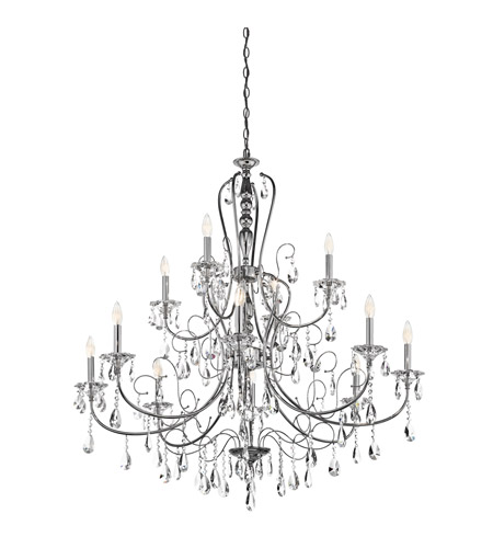 Kichler 43124CH Jules 12 Light 44 inch Chrome Chandelier Ceiling Light photo