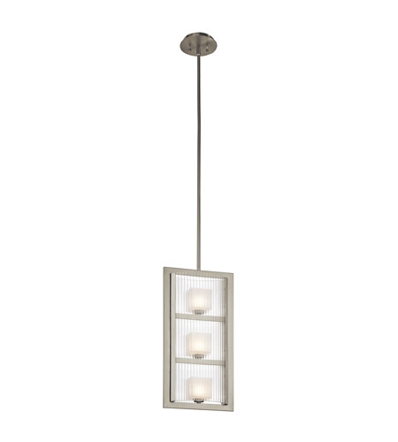 Kichler 43140NI Rigate 3 Light 11 inch Brushed Nickel Foyer Pendant Ceiling Light