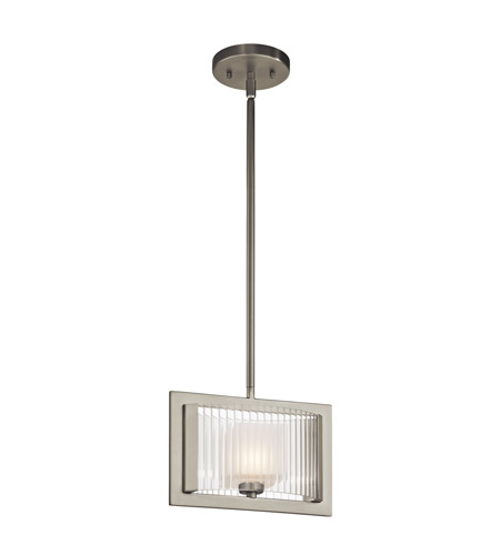 Kichler Lighting Rigate 1 Light Mini Pendant in Brushed Nickel 43145NI