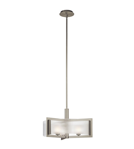 Kichler Lighting Rigate 3 Light Semi-Flush in Brushed Nickel 43147NI