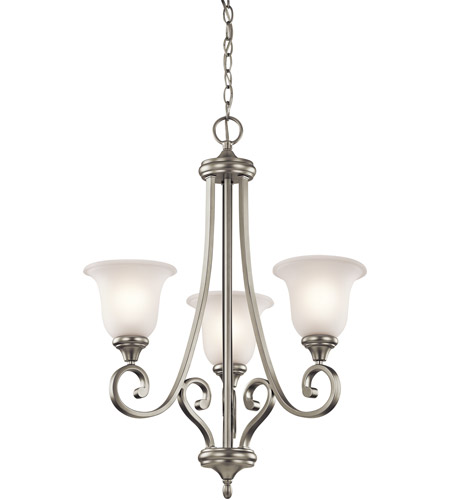 Kichler Lighting Monroe 3 Light Chandelier in Brushed Nickel 43155NI