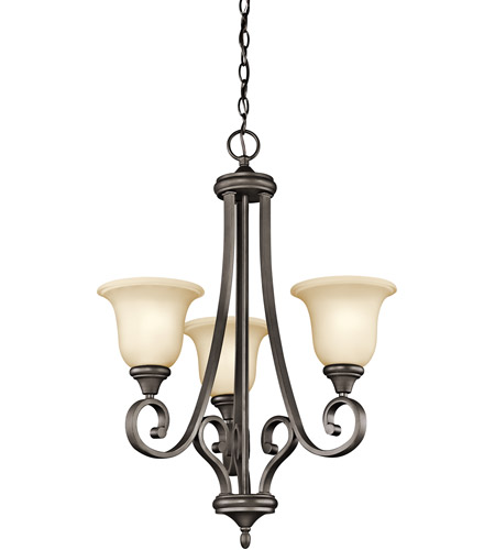Kichler 43155OZ Monroe 3 Light 23 inch Olde Bronze Chandelier Ceiling Light photo