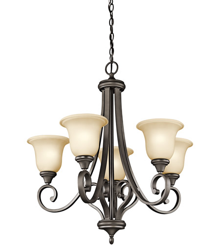 Kichler 43156OZ Monroe 5 Light 28 inch Olde Bronze Chandelier Ceiling Light photo