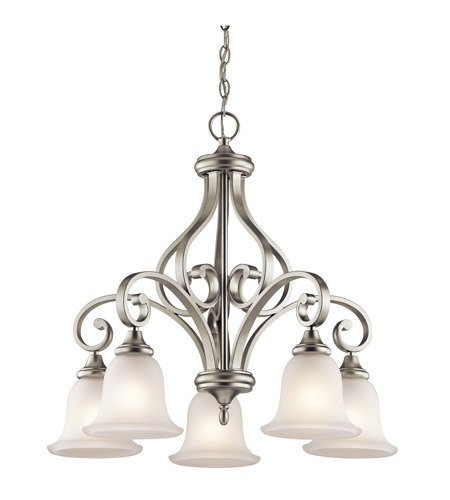 Kichler 43158NI Monroe 5 Light 27 inch Brushed Nickel Chandelier Ceiling Light photo