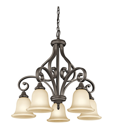 Kichler 43158OZ Monroe 5 Light 27 inch Olde Bronze Chandelier Ceiling Light photo