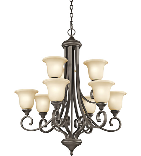 Kichler 43159OZ Monroe 9 Light 34 inch Olde Bronze Chandelier Ceiling Light photo