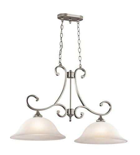Kichler Lighting Monroe Light Island Chandelier In Brushed Nickel - 2 light island chandelier