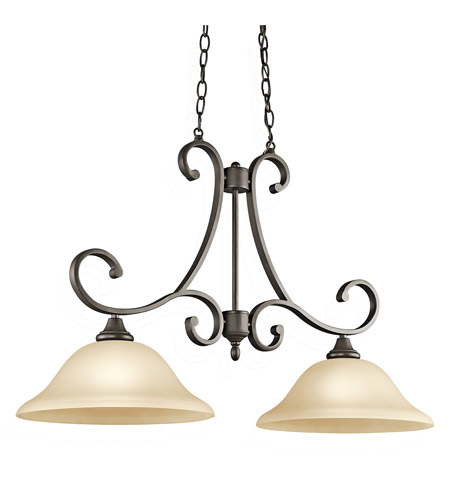 Kichler Lighting Builder Monroe 2 Light Island Pendant in Olde Bronze 43160OZ photo