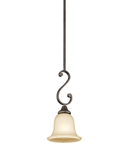 Kichler 43162OZ Monroe 1 Light 7 inch Olde Bronze Mini Pendant Ceiling Light photo
