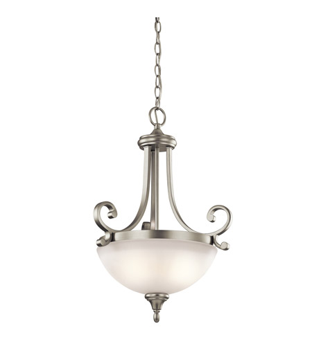 Kichler Lighting Monroe 2 Light Inverted Small Pendant in Brushed Nickel 43163NI