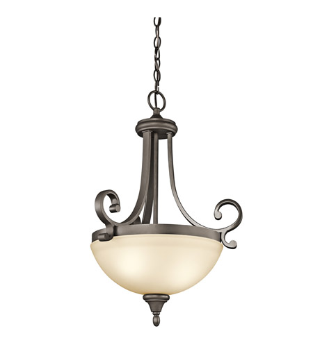 Kichler 43163OZ Monroe 2 Light 18 inch Olde Bronze Inverted Pendant Ceiling Light photo