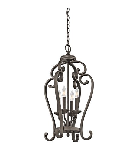 Kichler Lighting Builder Monroe 4 Light Foyer Chain Hung in Olde Bronze 43165OZ photo