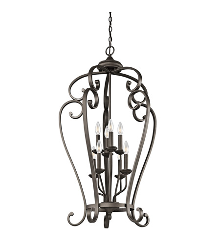 Kichler Lighting Builder Monroe 8 Light Foyer Chain Hung in Olde Bronze 43166OZ