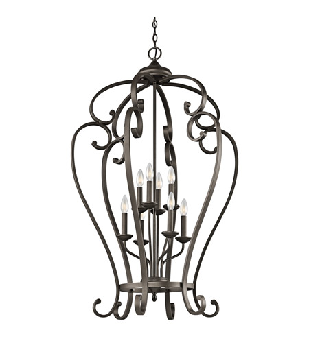 Kichler 43167OZ Monroe 8 Light 27 inch Olde Bronze Foyer Chain Hung Ceiling Light photo