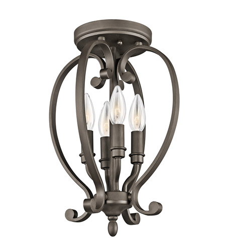 Kichler Lighting Builder Monroe 4 Light Semi-Flush Mount in Olde Bronze 43168OZ photo