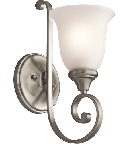 Satin Nickel Glass Wall Sconces