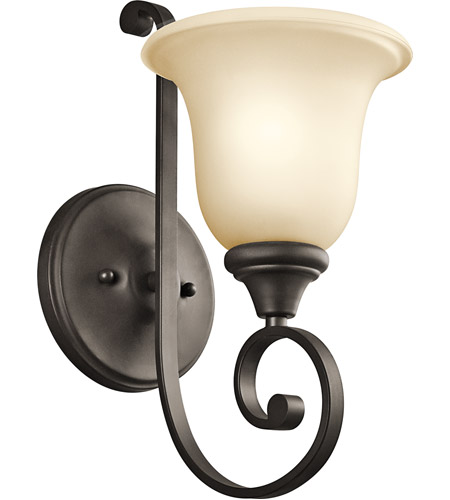 Kichler 43170OZ Monroe 1 Light 6 inch Olde Bronze Bath Vanity Wall Light photo