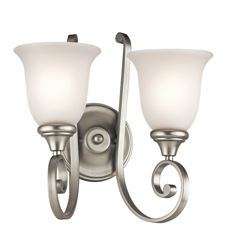 Kichler Lighting Monroe 2 Light Wall Bracket in Brushed Nickel 43171NI photo