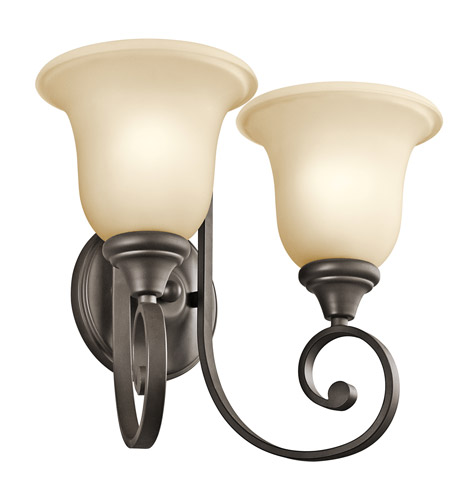 Kichler Lighting Builder Monroe 2 Light Wall Sconce in Olde Bronze 43171OZ photo