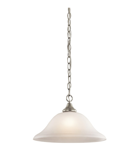 Kichler Lighting Monroe 1 Light Pendant in Brushed Nickel 43172NI