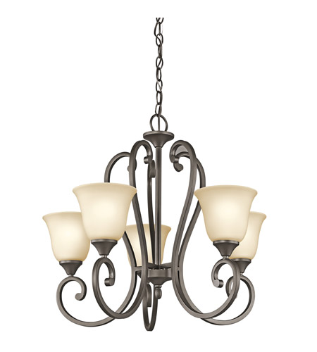Kichler Lighting Builder Feville 5 Light Chandelier in Olde Bronze 43175OZ photo