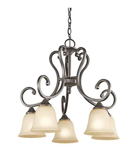 Kichler Lighting Builder Feville 5 Light Chandelier in Olde Bronze 43176OZ