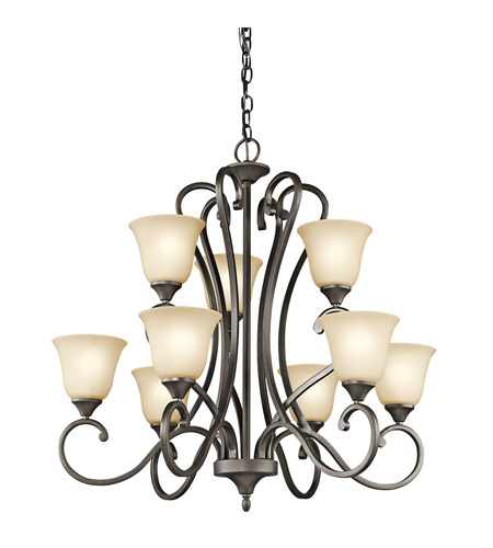 Kichler Lighting Builder Feville 9 Light Chandelier in Olde Bronze 43177OZ photo