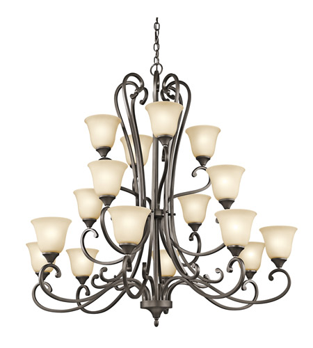 Kichler Lighting Builder Feville 16 Light Chandelier in Olde Bronze 43178OZ photo