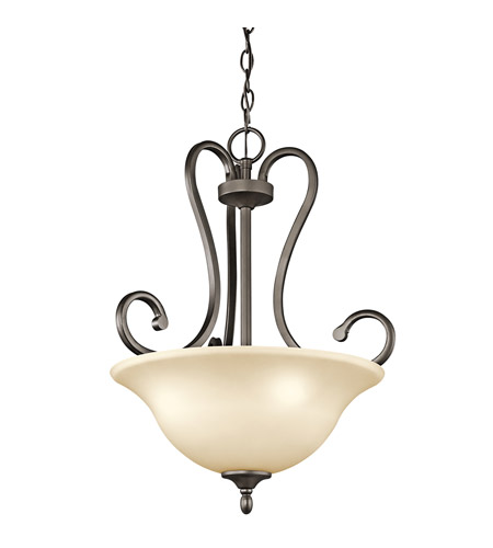 Kichler Lighting Builder Feville 3 Light Inverted Pendant in Olde Bronze 43179OZ photo