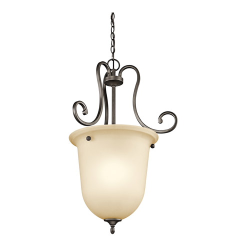 Kichler Lighting Builder Feville 1 Light Foyer Chain Hung in Olde Bronze 43181OZ photo