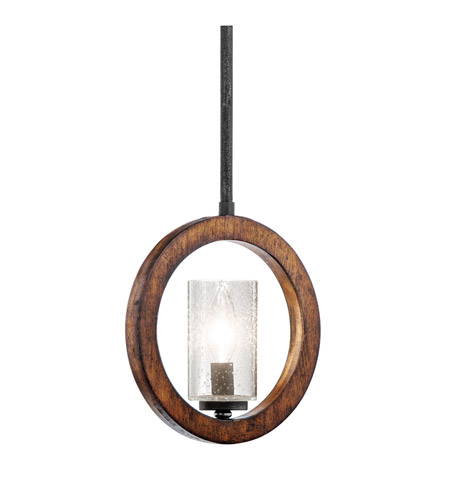 Kichler Lighting Grand Bank 1 Light Pendalette in Auburn Stained Finish 43189AUB photo