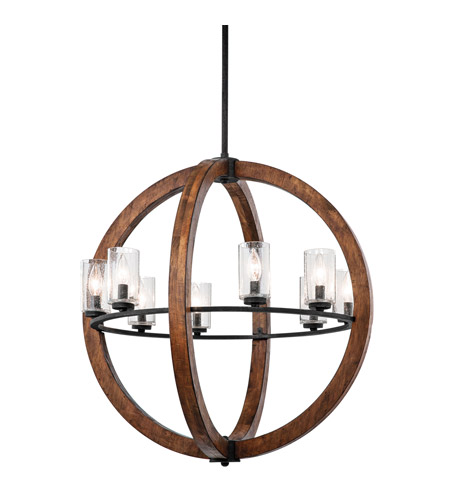 Kichler 43190AUB Grand Bank 8 Light 28 inch Auburn Stained Finish Chandelier Ceiling Light photo