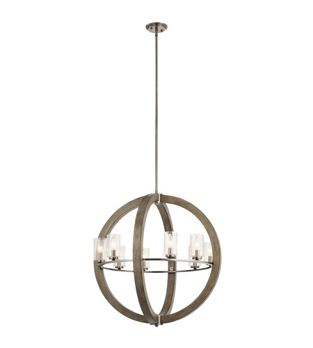 Kichler 43190DAG Grand Bank 8 Light 28 inch Distressed Antique Gray Chandelier Ceiling Light, Medium photo