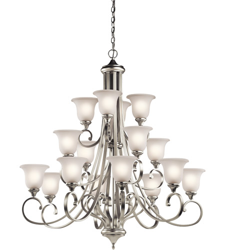 Kichler 43192NI Monroe 16 Light 45 inch Brushed Nickel Chandelier Ceiling Light photo