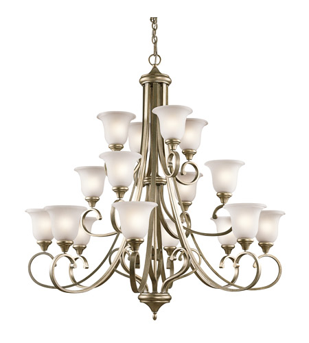 Kichler Sterling Gold Monroe Chandeliers