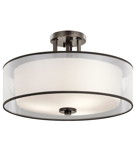 Kichler 43194miz tallie 3 light 18 inch mission bronze semi flush kichler 43194miz tallie 3 light 18 inch mission bronze semi flush mount ceiling light aloadofball Choice Image