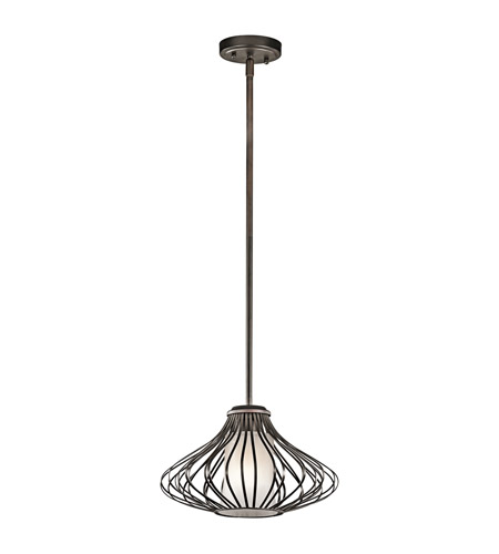 Kichler 43200OZ Signature 1 Light 13 inch Olde Bronze Mini Pendant Ceiling Light photo